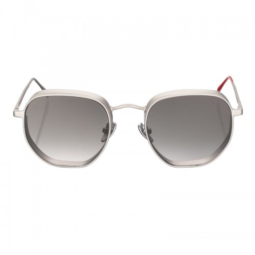 Vysen Collection Women's Sun Glasses Silver Matte Frame+Black Lenses GRODA-G3