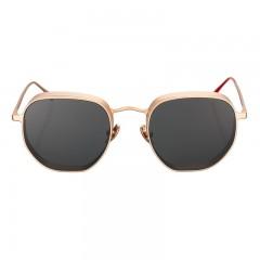 Vysen Collection Unisex Sun Glasses Gold Matte Frame+Black Lenses GRODA-G2