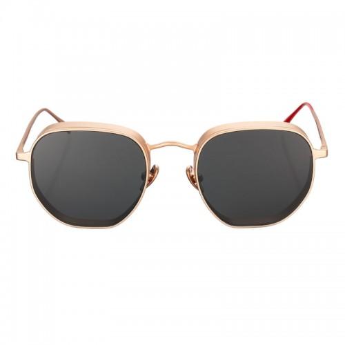 Vysen Collection Women's Sun Glasses Gold Matte Frame+Black Lenses GRODA-G2