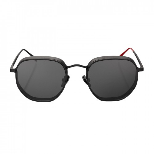 فايزن كوليكشن نظارة شمس للسيدات اطار لون اسود غير لامع+عدسة سوداء GRODA-G1