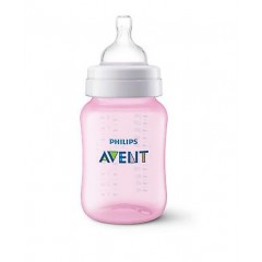 Philips AVENT Classic Plastic Biberon 125 ml 1 Feeding Bottle Rose Classic-R