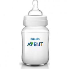 Philips AVENT Classic Plastic Biberon 125 ml 1 Feeding Bottle White Classic-W