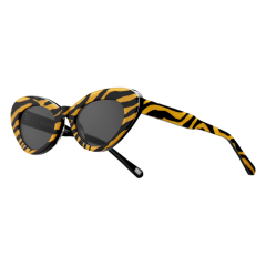 CHiMi Women's Sun Glasses Brown Black Tiger Round Striped