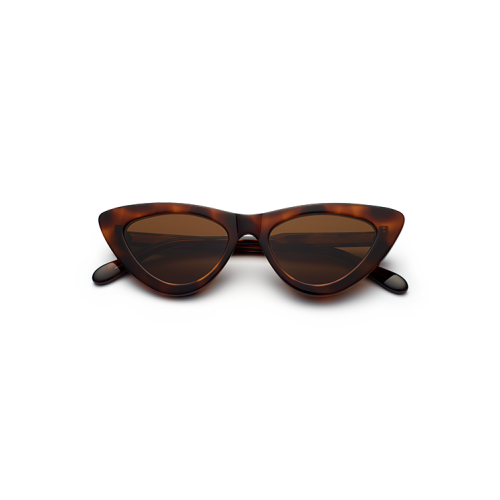 CHiMi Women's Sun Glasses Classic Cat Eyes Brown*Black CORE-TORTOISE