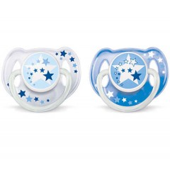 AVENT Tetina 2 pcs with Box and Cover for Children from 0-6 Months T-D06