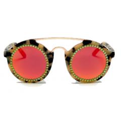 Freda Banana Women's Sun Glasses Rose Gold with Tiger Frame Martin