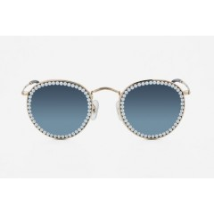 Freda Banana Women's Sun Glasses with Pearls VIC MIRROR