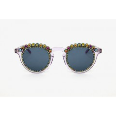 Freda Banana Women's Sun Glasses with Pearls TOSCA LILAC PETROL