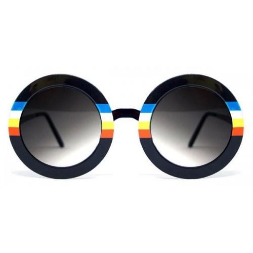SpitFire Women's Sun Glasses Black with Rainbow Frame BLUE SKY