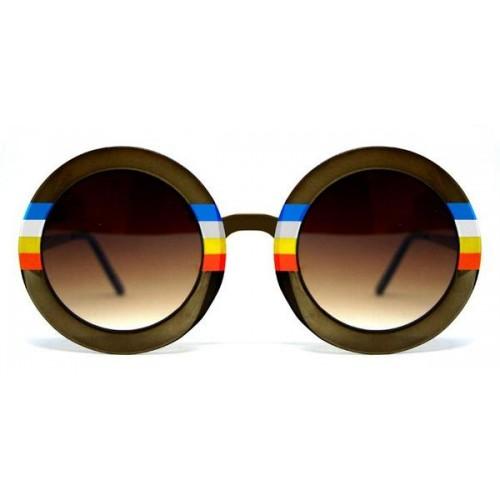 سبيت فاير نظارة شمس للسيدات عدسات بني باطار لون قوس قزح BLUE SKY-Brown