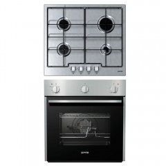Gorenje Built-In Gas Oven 60cm with Grill and Hob 60 cm 4 Gas Burners G6N4AX