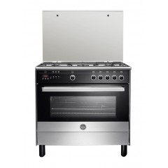 La Germania Freestanding Cooker 90 x 60 cm 5 Gas Burners with Fan 9M10G4A1X4AWW