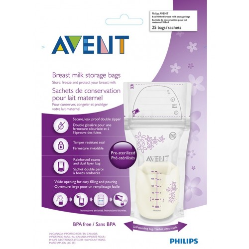 AVENT Breastmilk Storage Bags 180ml 25 Count ABSB-180
