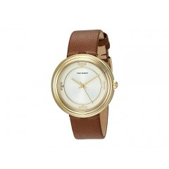 توري بورش ساعة حريمي سوار جلد بني TBW6100