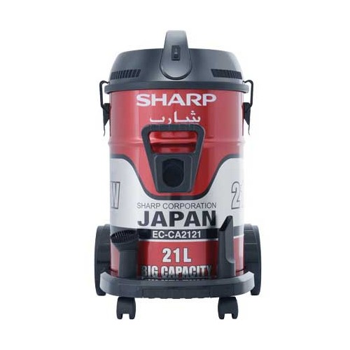 SHARP Pail Can Vacuum Cleaner 2100 Watts Red EC-CA2121-X