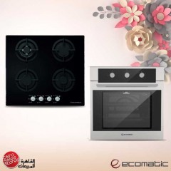 Ecomatic Built-in Gas oven 60 cm With Gas Grill & Fans Stainless Steel 64 L G6424T
