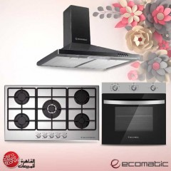 Ecomatic Built-in Gas Oven 60 cm With Gas Grill & Fan Stainless Steel G6104T