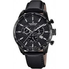 Candino Mens Chronograph Quartz Watch Leather Black Band C4683/4
