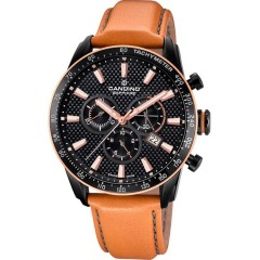 Candino Mens Chronograph Quartz Watch Leather Brown Band C4683/1