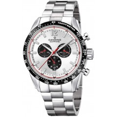 Candino Men's Chronograph Quartz Watch Stainless Steel Silver Band With Silver Dial C4682/1