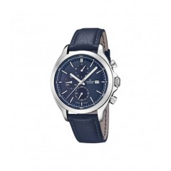 Candino Mens Chronograph Quartz Watch Leather Blue Band Blue Dial C4516/2