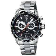 Candino Mens Chronograph Quartz Watch Stainless Steel Silver Band C4429/C