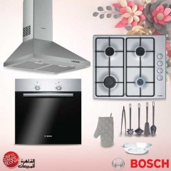 Bosch Gas Hob 4 Burner 60 cm Stainless PBP6C5B80O