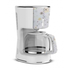 TORNADO Decorated Coffee Maker 900 Watt White 1.25 L TCMA-9125-C