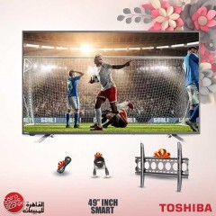 Toshiba LED TV 49 Inch Smart Full HD with Built In Receiver and Gifts 49L5865EA