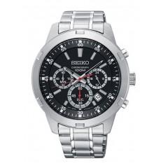 SEIKO Men's Hand Watch CHRONOGRAPH Diameter 43 mm Black Dial Water Resistant SKS605P1
