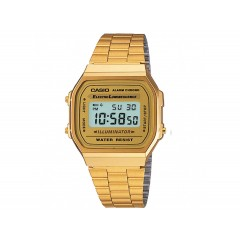 Casio Illuminator Men's Watch Stainless steel Gold Band A168WG-9WDF