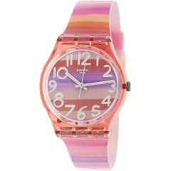 SWATCH Women's Watch Silicone Multi Color Band GP140