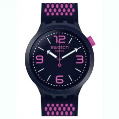 SWATCH Men's Analogue Watch Black Silicone Band SO27N103