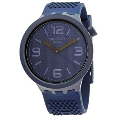 SWATCH Men's Analogue Watch Blue Silicone Band SO27N100