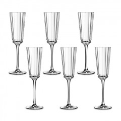 Macassar Crystal Glass Set of cups 6 Pieces 170 mm L6588