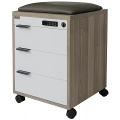 Artistico Drawers 45*60*45 cm with Electronic Lock and Sitting Pad Melamine Brown AD4