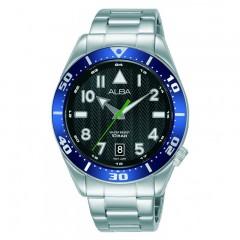 Alba MEN'S hand watch Stainless Steel band Prestige Water Resistant AS9J83X