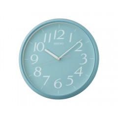 SEIKO Plastic Wall Clock 28 cm Light Blue QXA719L