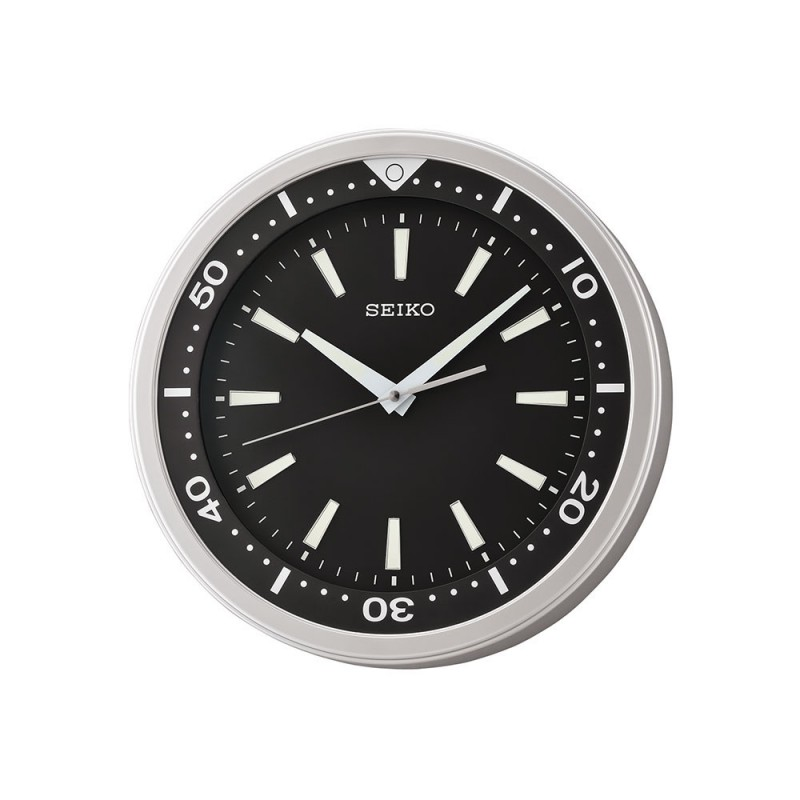 Seiko Plastic Wall Clock 35cm With 3d Index Qxa723a