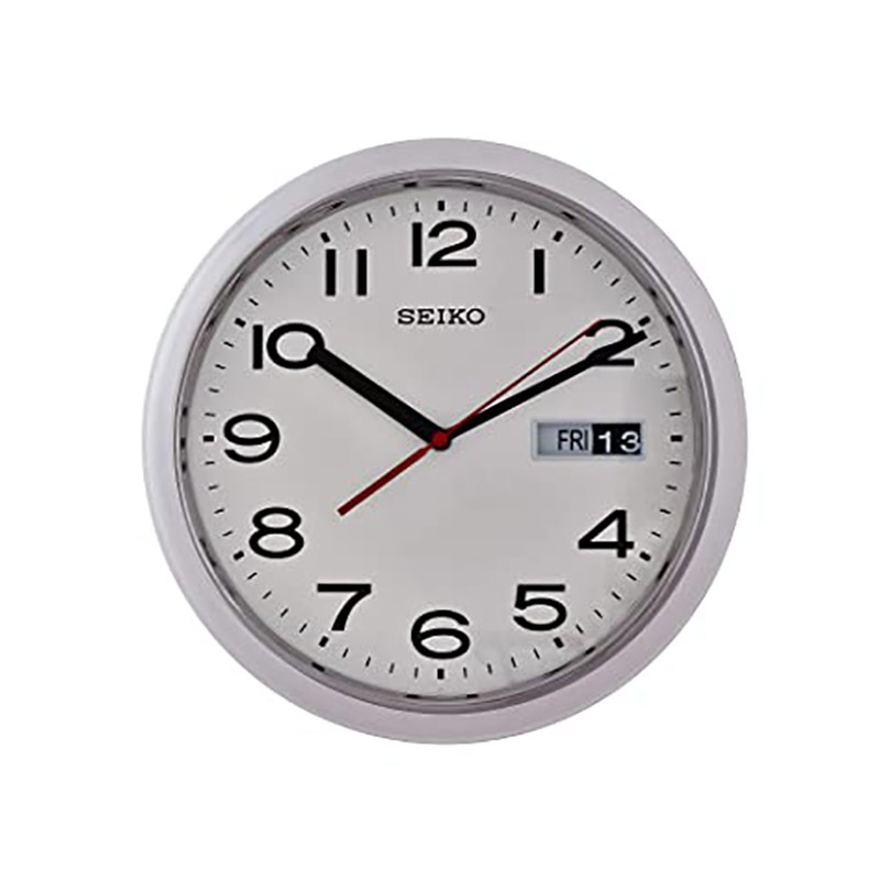 Seiko Plastic Wall Clock 37 5cm With Day And Date Calendar Qxf102h