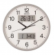 سيكو ساعة حائط بلاستيك 33 سم مزودة بترمومتر لقياس الحرارة والرطوبة QXL013S
