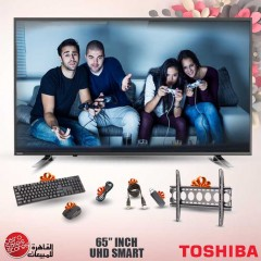NW Toshiba TV LED 4K Smart 65 Inch With Built In Receiver 65U5865EA