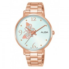 ALBA Ladies' Hand Watch Fashion White Dial & Stainless steel band Water Resistance AH8602X