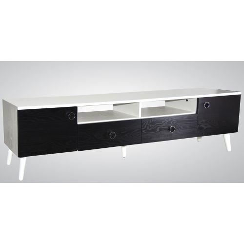 Wood & More TV Table 2 Lockers and 2 Doors 180*40 cm White TVT-2LC-180 (NW)