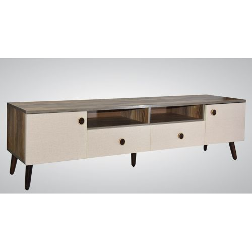 Wood & More TV Table 2 Lockers and 2 Doors 180*40 cm Woody TVT-2LC-180 (W)