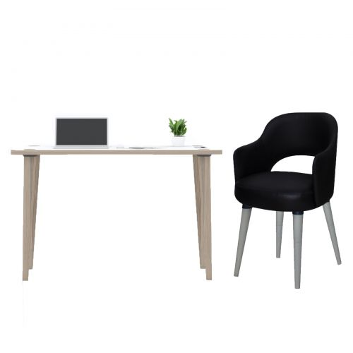 Desk 120 cm Easy Installation and Fixed Chair 50*50*96 cm Black ADD-120