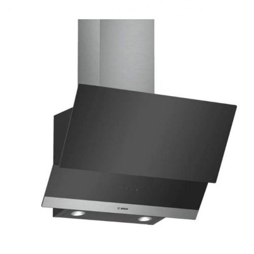 Bosch Kitchen Hood 60cm 539 m3/h 3 Speeds Clear Glass Black DWK065G60
