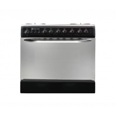 White Point GAS COOKER GAS 60*80 CM 5 BURNERS Free Stand Black WPGC 8060BA