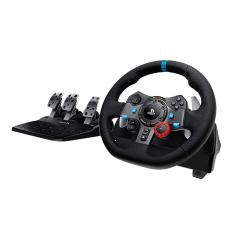 لوجيتيك عجلة سباق للقيادة مع دواسات لون أسود G29