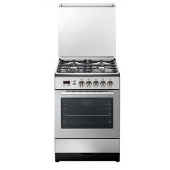 KelvinatorGAS Cooker 60*60 cm 4 Burners with Fan Stainless TRENDY